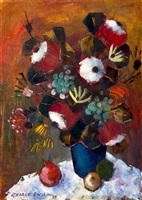 still life with flowers and pomegranates by george enslin