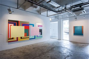 peter halley: solo exhibition (installation view)