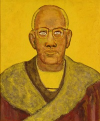 portrait of ahmed bioud by beauford delaney