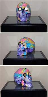 the hours spin skull #1 by damien hirst