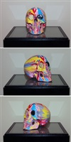 the hours spin skull #2 by damien hirst