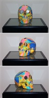 the hours spin skull #3 by damien hirst