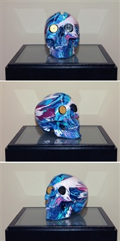 the hours spin skull #4 by damien hirst