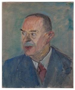 porträt thomas mann / portrait of thomas mann by ernst morgenthaler