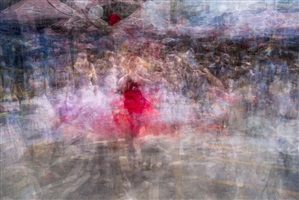 woman in a red dress by bill anderson