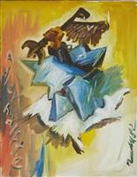 adlerhälfte (half an eagle) by jörg immendorff