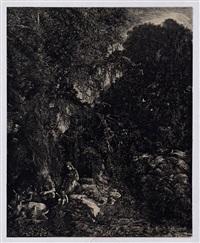 la sainte famille aux cerfs by rodolphe bresdin