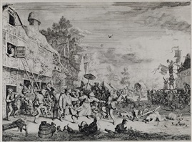 the large village fair by cornelis dusart