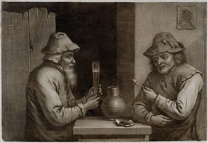 two peasants in a tavern by wallerant vaillant