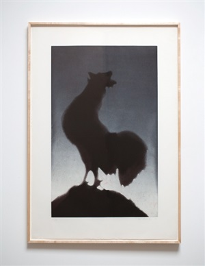 rooster by ed ruscha
