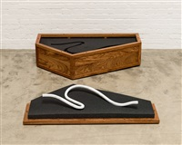 rebar caskets and marble rebar - 3 by ai weiwei