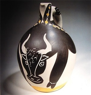 bull turned pitcher by pablo picasso