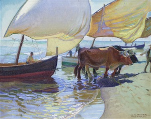 pulling the boats by arthur grover rider