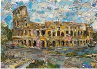 postcards from nowhere: rome 2014 by vik muniz