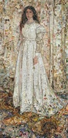 symphony in white: no 1; white girl, after james whistler by vik muniz