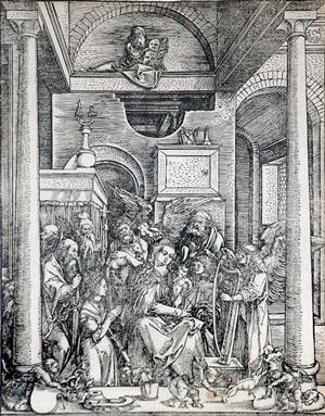 glorification of the virgin (the life of the virgin) by albrecht dürer