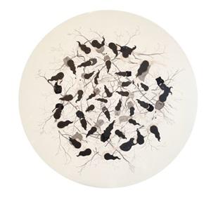 big white circle by kezban arca batibeki