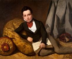 portrait de gustave de rothschild (1829-1911) adolescent, l'année de sa bar-mitzvah by adolphe brune