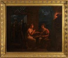 miranda jouant aux échecs avec fernando by gillot saint-evre