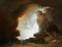 la grotte de neptune à tivoli by francesco fidanza