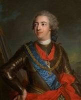 "portrait en cuirasse de fernando de silva y alvarez de toledo, duc de huescar, 12e duc d'albe (1714 - 1776)"" by jean marc nattier"