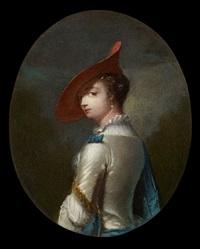 jeune bergère au chapeau rouge by frans van der myn