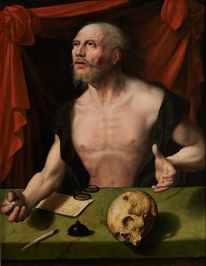 saint jérôme pénitent dans son étude by joos van cleve