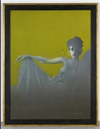 madame récamier by paul wunderlich