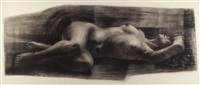 reclining nude by charles white
