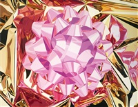 pink bow by jeff koons