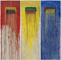 triptych dragon by pat steir