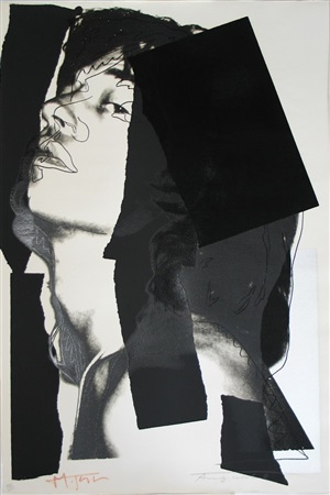 mick jagger (ii.144) by andy warhol