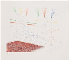 on it may stay his eye (from the blue guitar) by david hockney