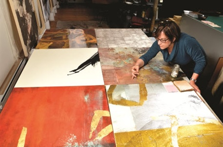 artist working the japanese nihonga tradition of painting by judith kruger
