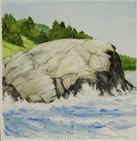 gull rock, monhegan, august by marguerite robichaux