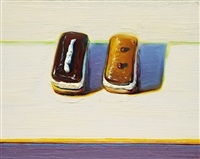 chocolate & maple by wayne thiebaud
