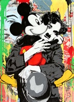 chaplin & mickey by mr. brainwash