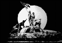 silver flag by banksy