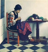 a young seamstress by harold knight