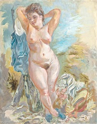 nude at cape cod by george grosz