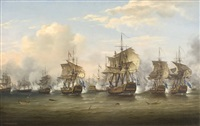 the battle of the dogger bank, august 5th, 1781 by thomas luny