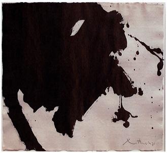 untitled black gesture by robert motherwell