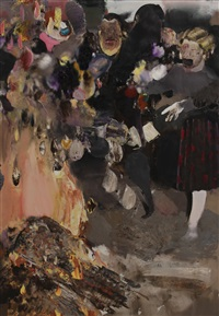 burning books by adrian ghenie