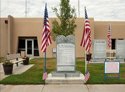 following the ten commandments bloomfield city hall bloomfield new mexico by andrea robbins and max becher