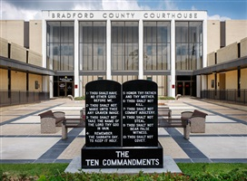 following the ten commandments: bradford county courthouse, starke, florida by andrea robbins and max becher