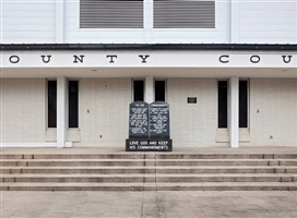 following the ten commandments: dixie county courthouse, cross city, florida by andrea robbins and max becher