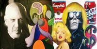 homage to two great masters - picasso & warhol by steve kaufman