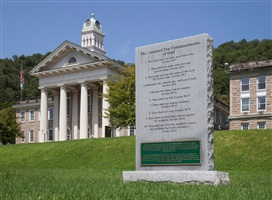 following the ten commandments: wyoming county courthouse, pineville, west virginia by andrea robbins and max becher