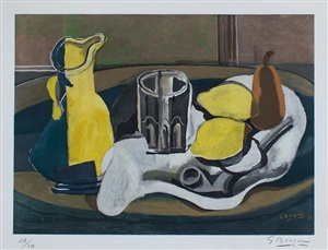 nature morte aux citrons (still life with lemons) by georges braque