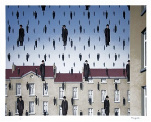 golconde (golconda) by rené magritte